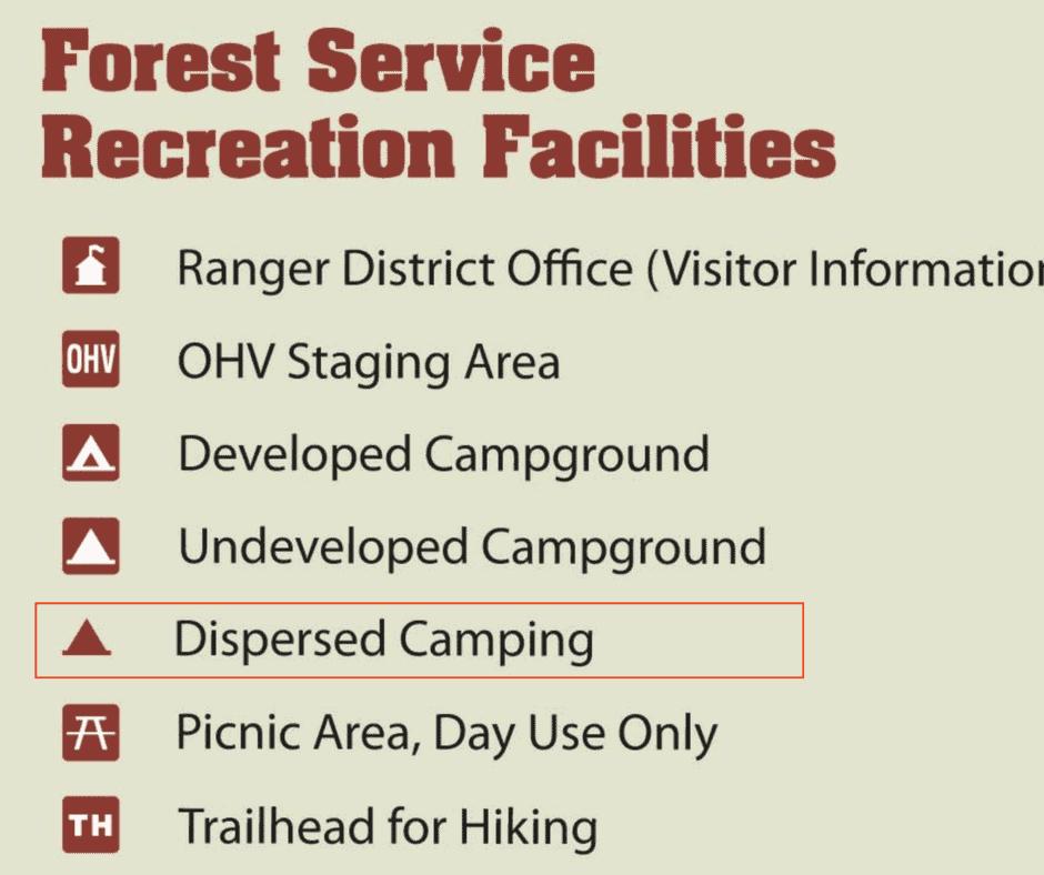 MVUM - Finding a Free Campsite 3