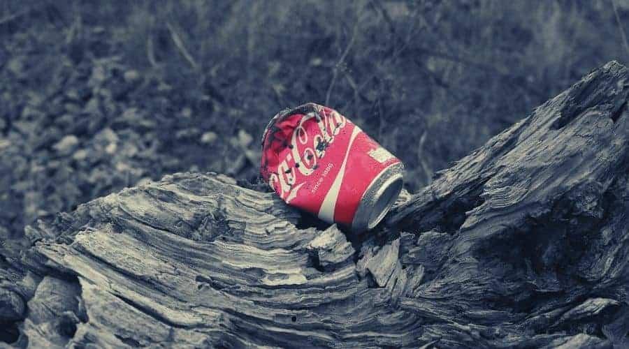 coca cola trash