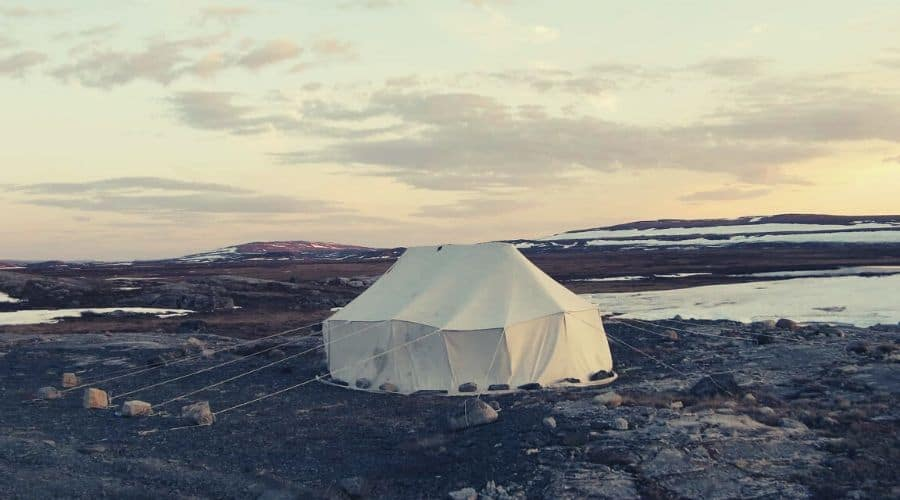 giant canvas tent
