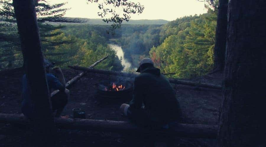 Dispersed Camping along Manistee intext