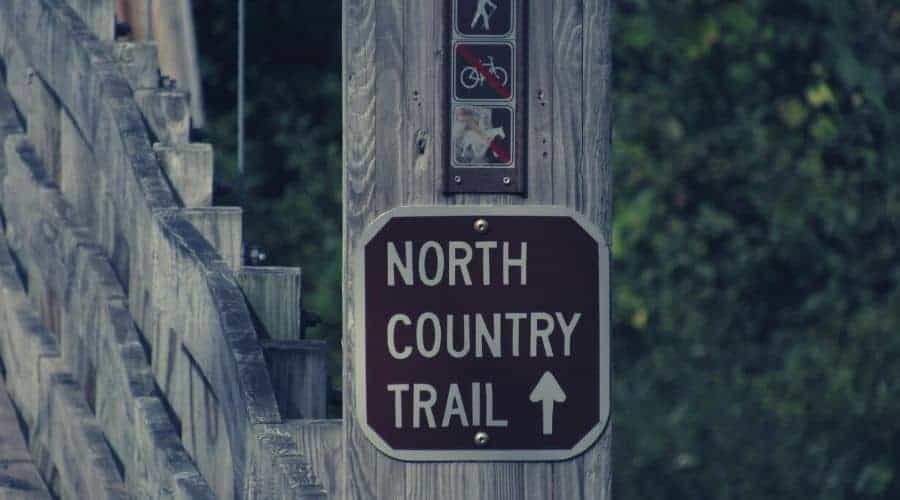 Manistee north country trail sign intext