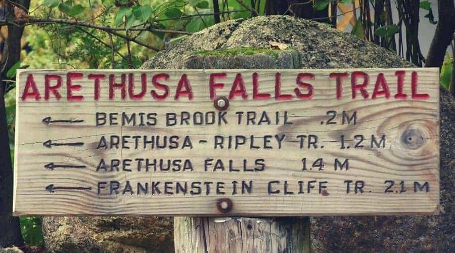 Arethusa Falls Trail Sign