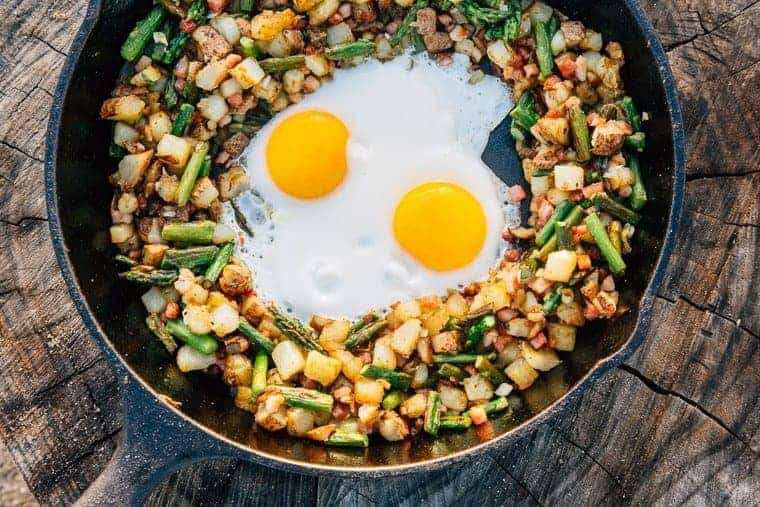 Asparagus-Pancetta-One-Pot-Camping-Breakfast-Skillet-Hash-9