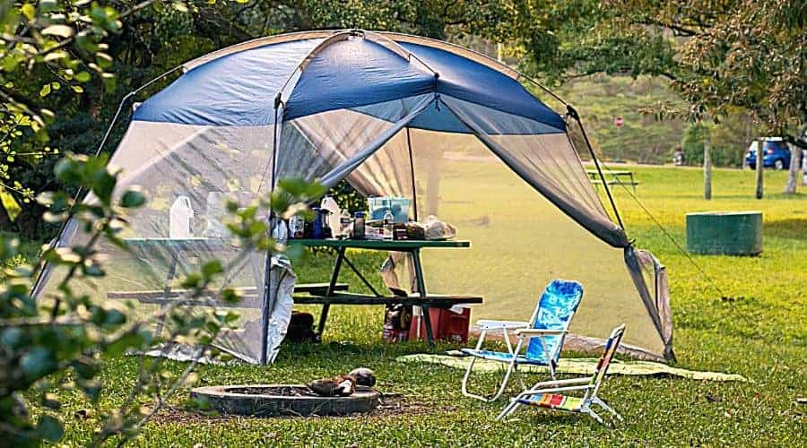 Pop Up Tent Camping Picnic - In Text