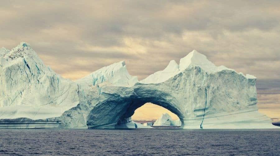 Iceberg Tunnel in Greenland
