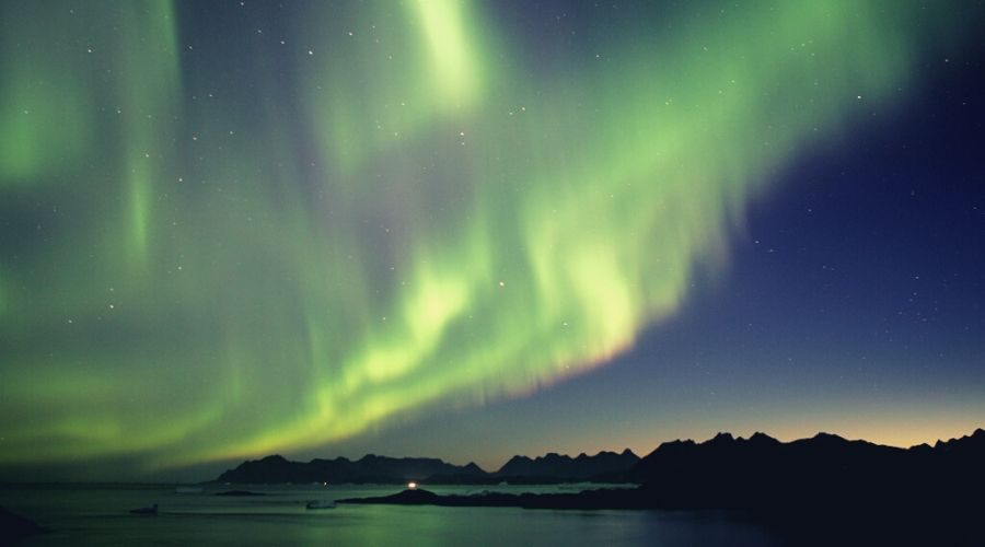Northern Lights over Greenland intext