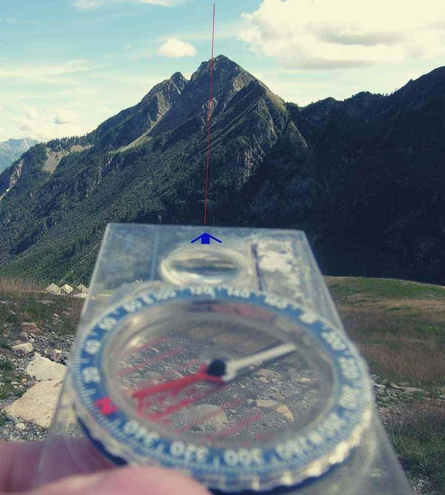 Compass-Bearing-on-Feature Vertintext