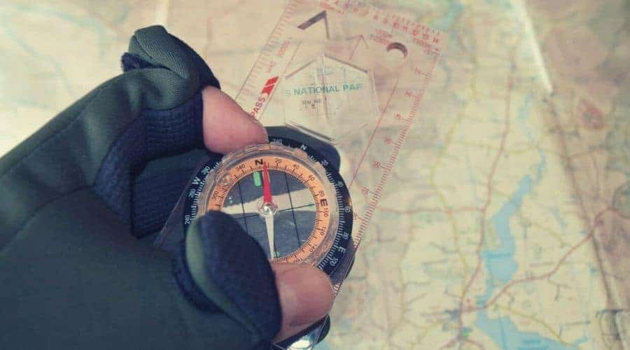 topographic map and compass intext