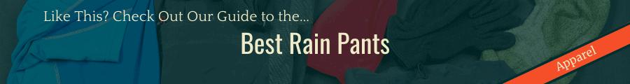 Best Rain Pants Banner