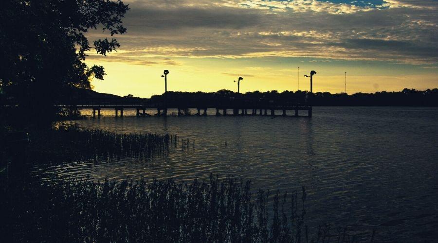 fishing pier Inks Lake Texas