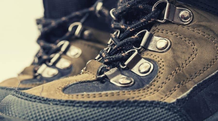 hiking boots closeup