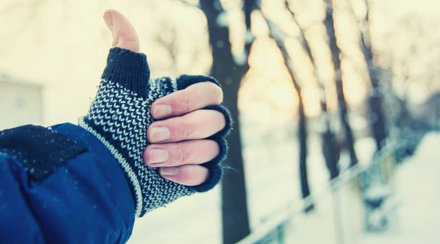 liner gloves can help keep hands warm