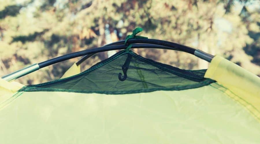 tent ventilation closeup