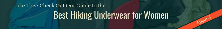 Best Hiking Underwear for Women Banner