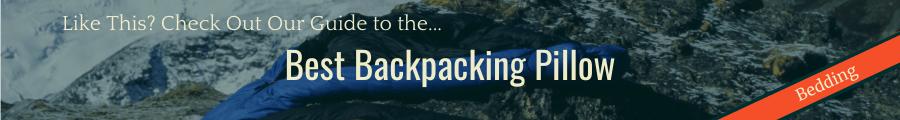 Best Backpacking Pillow Banner