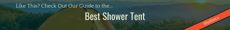 Best Shower Tent Banner
