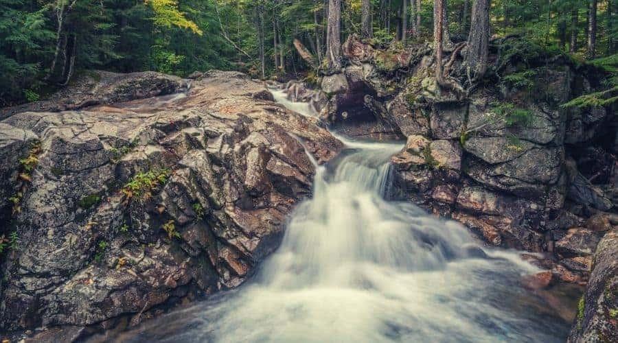Basin-Cascades Trail waterfall