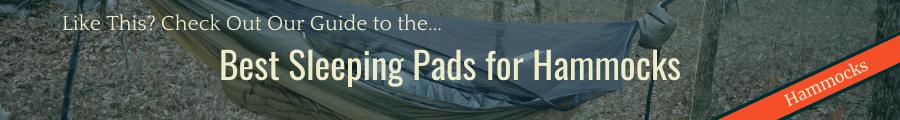 Best Sleeping Pads for Hammocks Banner