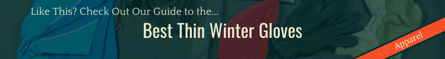 Best Thin Winter Gloves Banner