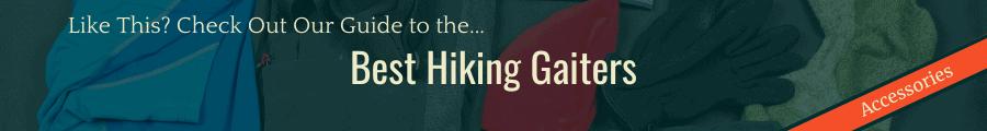 Best Hiking Gaiters Banner