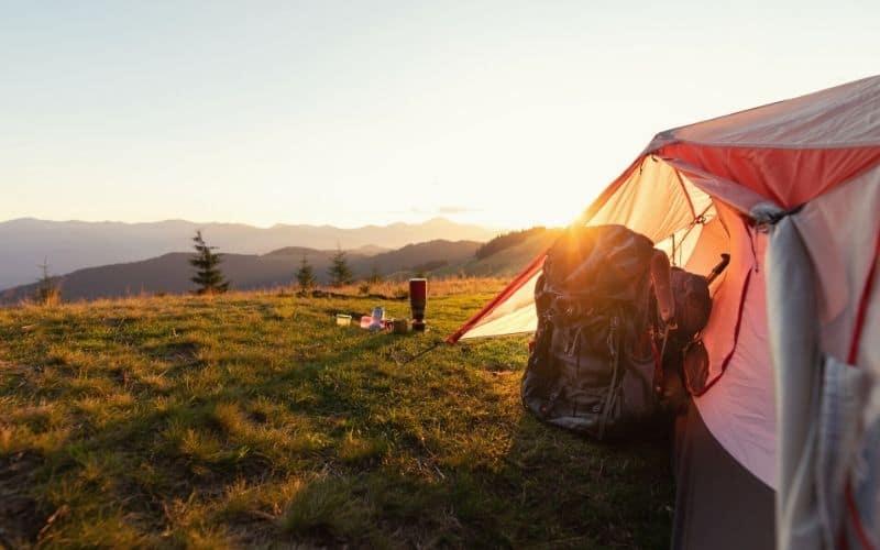 Backpacking tent vestibule space