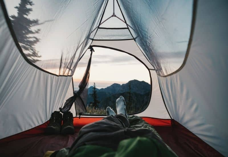 Inside Backpacking Tent
