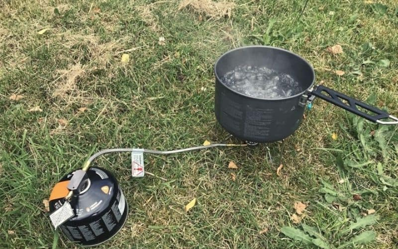 Non-Integrated canister stove