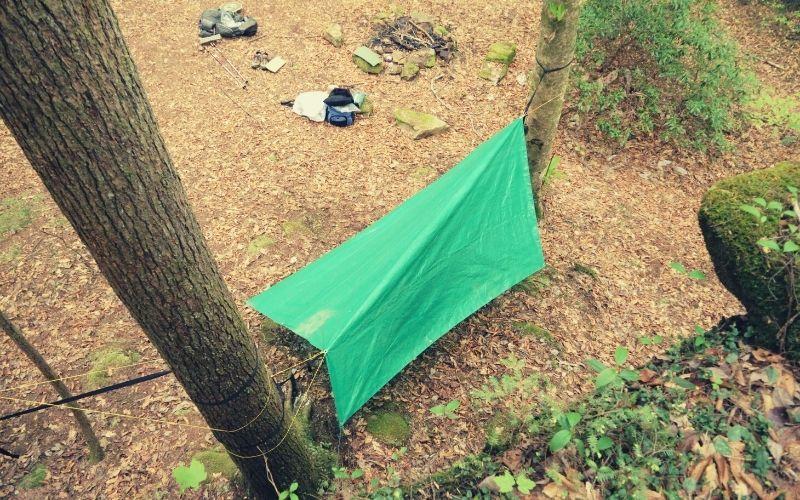 hammock tarp in diamond config