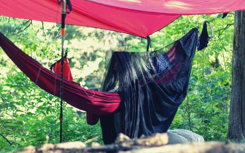 hammock with bug net and rain fly