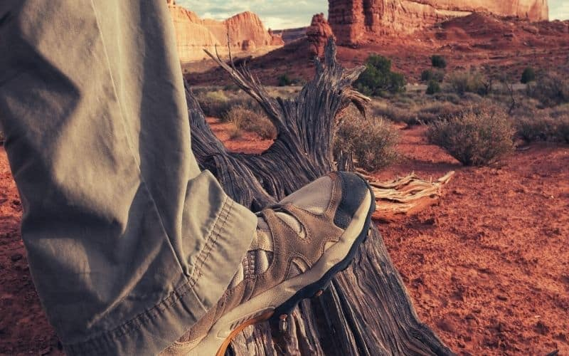 hiking pants and boots in utah