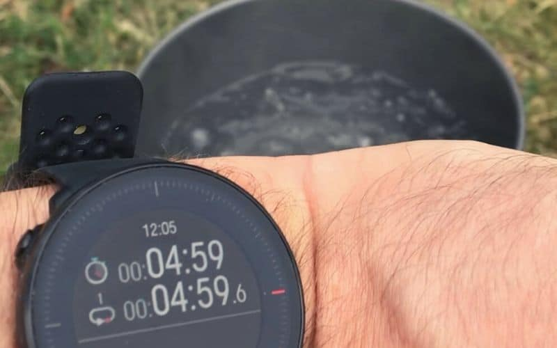 timing the boil time of backpacking stove