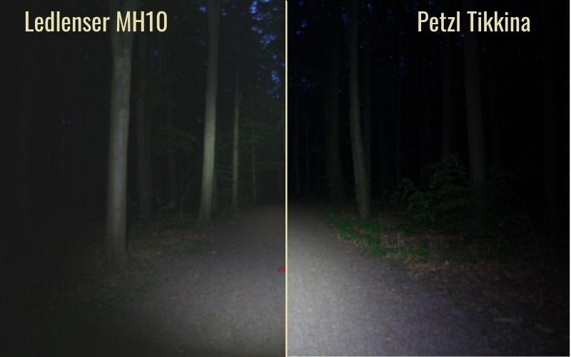 MH10 vs Tikkina Beam Distance