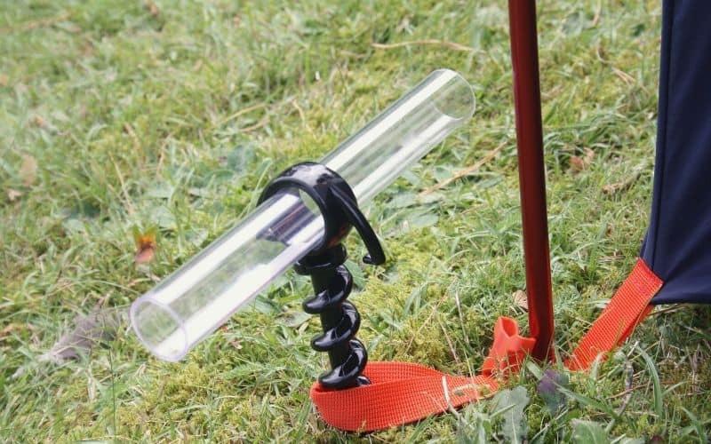 Orange Screw tent stake