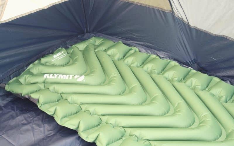 klymit static v inside tent